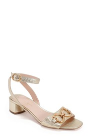 kate spade new york lagoon heart ankle strap sanda