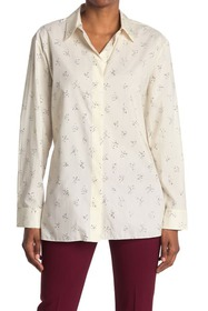 Theory Classic Printed Button Down Shirt