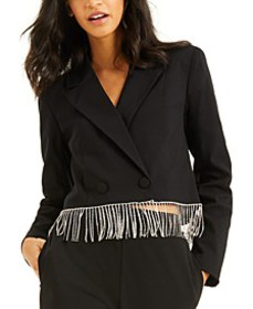 CULPOS X INC Crystal-Fringe Blazer, Created for Ma