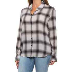 dylan Plaid Side Button Shirt - Long Sleeve (For W