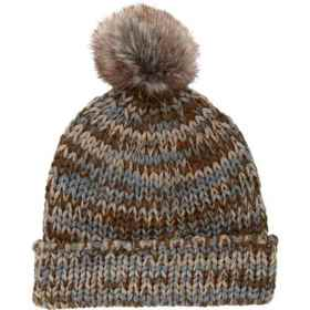 Scala Multi-Tone Knit Beanie (For Women) in Taupe