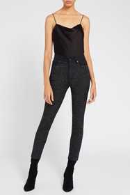 alice + olivia Good Sequin High Rise Ankle Skinny