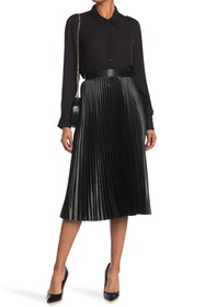 Elie Tahari Sue Pleated Midi Skirt