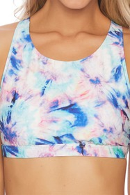 Splendid Brighter Side Tie-Dye Bikini Top