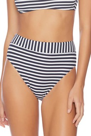 Splendid Never Enough Stripe High Waist Bikini Bot