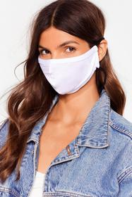 Nasty Gal White All Mouth Fashion Face Mask