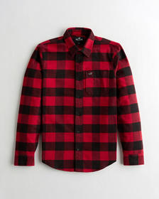Hollister Flannel Shirt, RED CHECK