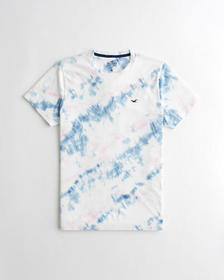 Hollister Must-Have Crewneck T-Shirt, WHITE TIE-DY