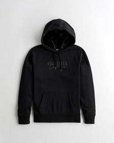 Hollister Logo Hoodie with Faux-Fur-Lined Hood, BL
