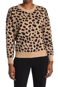 T Tahari Crew Neck Long Sleeve Pullover Sweater