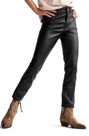 Free People Rebel at Heart Faux Leather High Waist