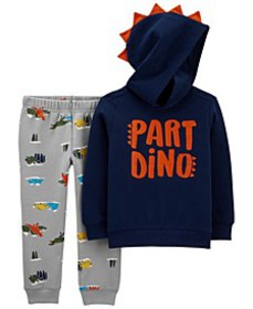 Baby Boys Part Dino Pullover and Jogger Set, 2 Pie