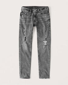 Ripped Super Skinny Jeans, GREY RIPPED WASH