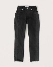 Curve Love High Rise Mom Jeans, WASHED BLACK