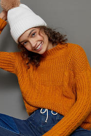 Anthropologie Liana Cable-Knit Sweater