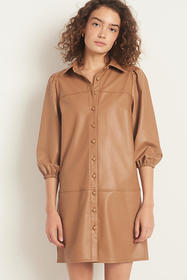 Anthropologie Rosie Faux Leather Tunic Dress