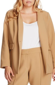 Vince Camuto Convertible Collar Stretch Crepe Blaz
