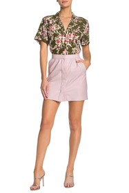 French Connection Bia Faux Leather Mini Skirt