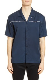 BLDWN Connor Slim Fit Short Sleeve Button-Up Camp