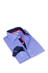 Levinas Signature Pattern Slim Fit Sport Shirt