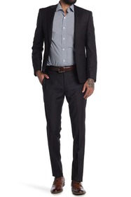 Calvin Klein Charcoal Two-Button Notched Lapel Sui