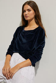Anthropologie Carly Velour Top