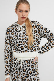 Anthropologie Ginny Leopard Pullover