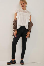 Anthropologie Paige Hoxton High-Rise Coated Skinny