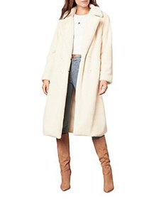 cupcakes and cashmere - Celestia Faux Fur Trench C