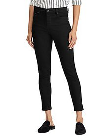 Ralph Lauren - Mid Rise Ankle Skinny Jeans in Blac