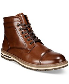 Men's Travis Cap-Toe Lace-Up Boots, Created for Ma