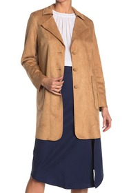 philosophy Faux Suede Button Front Jacket
