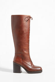 Anthropologie Jeffrey Campbell Tall Lace-Up Boots