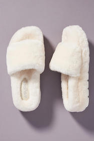 Anthropologie J/Slides Bryce Shearling Slippers