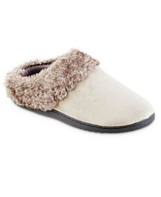 Isotoner Women's Boxed Velour Hoodback Slippers