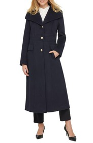 Karl Lagerfeld Paris Long Wool Blend Coat