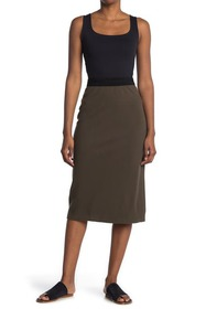 James Perse Contrast Elastic Pull On Skirt