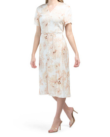 Painted Magnolia V-neck Dress