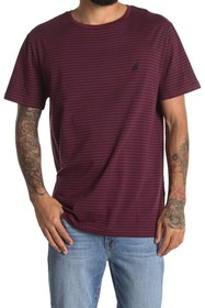 Nautica Striped Short Sleeve Crew Neck T-Shirt