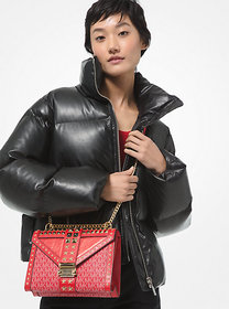 Michael Kors Quilted Faux Leather Puffer Jacket