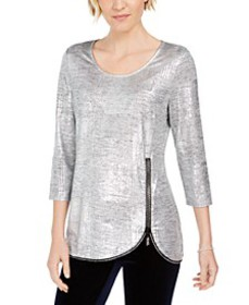 Metallic Foiled Top, Created for Macy's