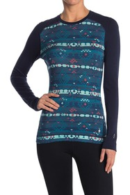 SmartWool Merino Wool Base Layer Patterned Crew Sw
