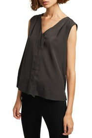French Connection Solid V-Neck Tank Top