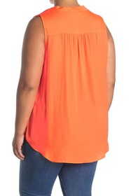 Vince Camuto Satin V-Neck Sleeveless Top