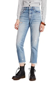 Free People Good Times Ripped Crop Skinny Jeans
