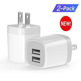 Dual Port USB Wall Charger,Universal Smart Travel