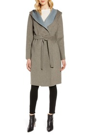 Sam Edelman Double Face Wool Blend Wrap Coat with