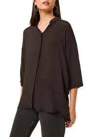 French Connection Etta Collared Dolman Sleeve Blou