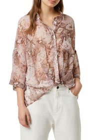 French Connection Danae Snakeskin Crepe Blouse