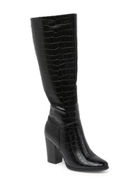 Top Moda Chapo Croc Embossed Boot